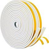 YoTache隙間テープ 戸当たりテープ 消音 衝突防止 防水 ドアや窓の音洩られ防止に 12mm (幅) x 6mm (厚さ) x 4.5m(長さ) x 2本 白い