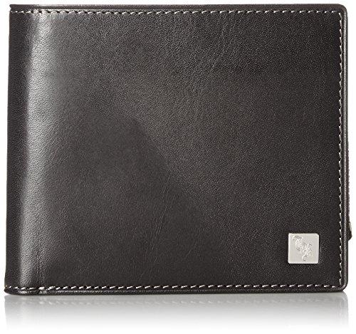 [タケオキクチ] 財布 二つ折り 小銭入れ付き(取り外し可能) ピエール 181618 BLK クロ