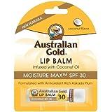 Australian Gold Lip Balm Moisture Max SPF 30 Infused with Coconut Oil 4.2g/0.15oz