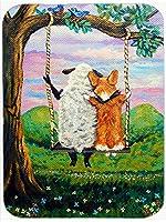 Caroline 's Treasures Corgi with Sheep Love Growsマウスパッド、ホットパッドまたは五徳、マルチカラー( 7439mp )
