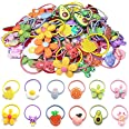 Hair Ties For Girls, 50 Pcs Cute Rubber Bands Elastic Soft Pigtail Holders For Toddlers Kids Teens Children
