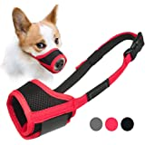 Nonbrand Dog Muzzle Anti Biting Barking and Chewing, with Comfortable Mesh Soft Fabric and Adjustable Strap, Suitable for Sma