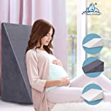 STARRY EUCALYPT Wedge Pillow Cool Gel Memory Foam Bed Wedge Comfortable for Back and Leg Support Acid Reflux Pillow
