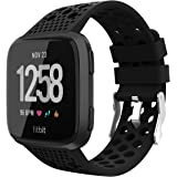 Adepoy Replacement Compatible for Fitbit Versa Bands, Breathable Sport Watch Straps Compatible with Fitbit Versa/Versa Lite E