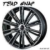 【 16インチ アルミホイール (4本)1台分セット 】2017年NEWモデル!! TEAD SNAP(テッド スナップ) 16X6.5J 5H-114.3 +53 * JWL規格適合品 ワンランク上の高品質ドレスアップホイール ● 普通車