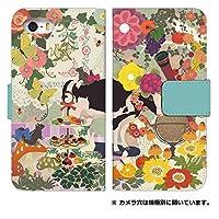 スマホケース 手帳型 [Galaxy S9 SC-02K] ケース かわいい 花柄 動物 エレガント デザイン 0013-B. 牛とリス sc02k/scv38 カバー 手帳 ギャラクシー s9 ケース スマホゴ