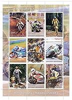 マダガスカル/ 9分の1999切手 - 異なるスポーツバイクをフィーチャー切手コレクターやスーパーバイク愛好家のためのモータースポーツミントスタンプシート