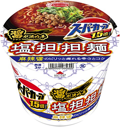 エースコック スーパーカップ 塩担担麺 12個セット