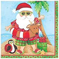 Creative Converting 66694818カウントランチナプキン、サンタの休日、レッド/グリーン/ホワイト