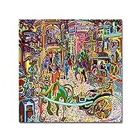 商標Fineアート上の星とSleet Sherbrooke Street by Josh・バイヤー、14x 14インチ 24x24-Inch ALI5608-C2424GG