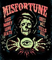 Misfortune by Ian McNiel Haunted Fortune Teller Psychic Giclee Tattooアートプリント C - 20.09 in x 23.24 in ブラック 12710TA-MISFORTUNE