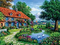 Ceaco Arturo Zarraga Cottage with Swans Jigsaw Puzzle ( 550 Piece )
