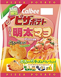 カルビー ピザポテト こっくり明太マヨPizza味 60g×12袋