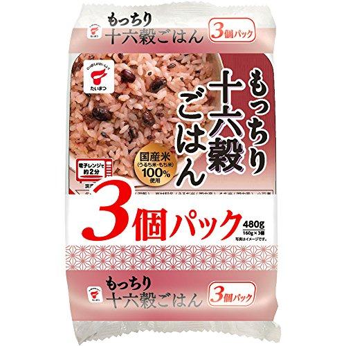 たいまつ もっちり十六穀ごはん JR-6(160g*3食入)