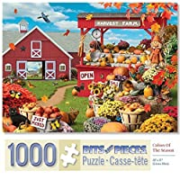 Bits and Pieces–1000ピースジグソーパズルfor Adults–Colors Of The Season–1000pc Fall、秋シーンJigsaw by Artist Alan Giana