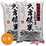 六方銀米 白米 20kg ( 5kg × 4 ) こしひかり 平成28年度産 特別栽培米 コウノトリ舞い降りるお米 兵庫県産