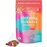 Pink Stork Morning Sickness Tea: Ginger Peach + USDA Organic + Nausea Relief + Supports Digestion & Hydration, Women-Owned, 3