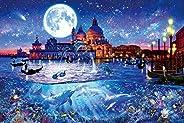 1000ピース ジグソーパズル ラッセン ヴェネツィア~ワールドトラベル~ 【光るパズル】 (50x75cm)
