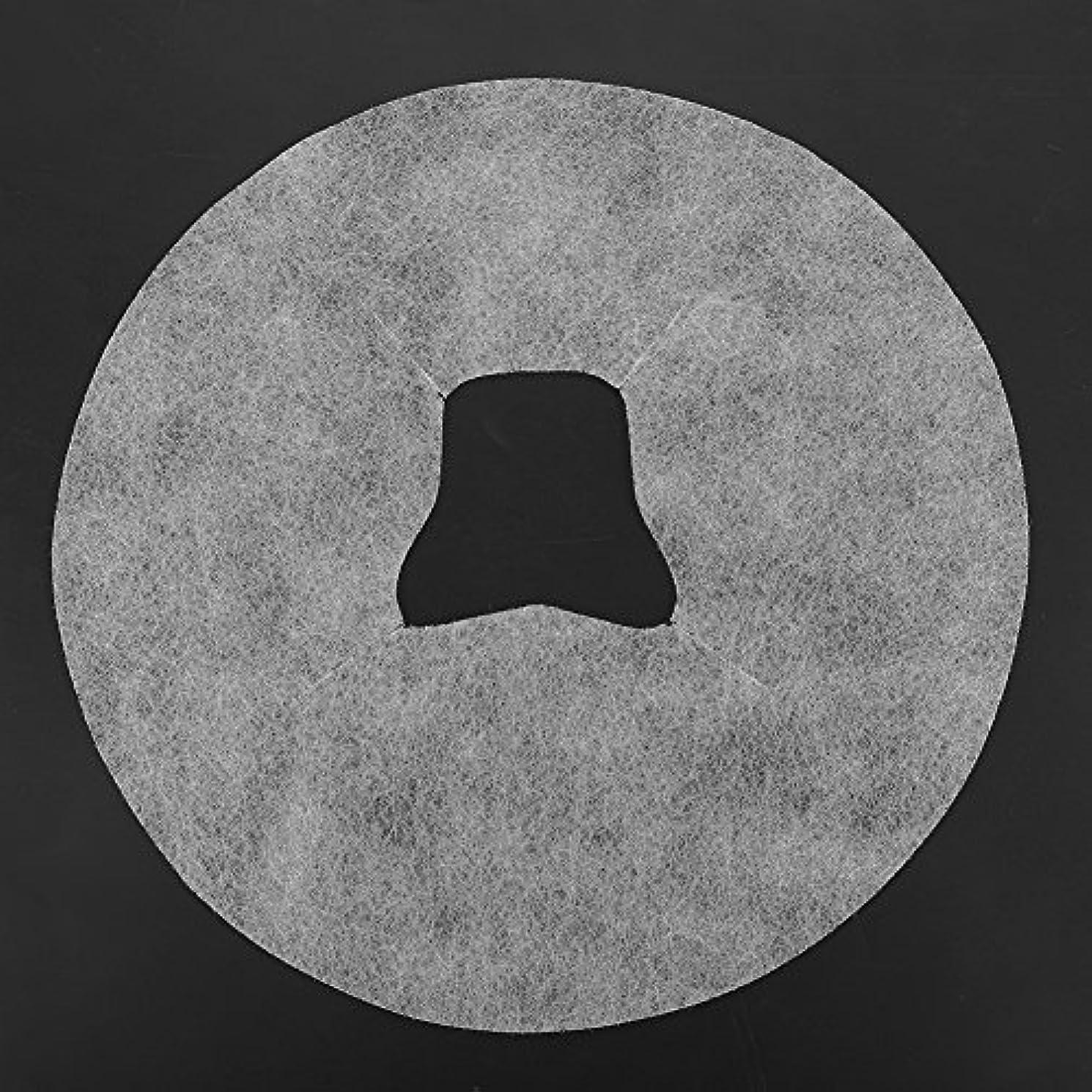 アラビア語生まれ反逆者SoarUp 【100枚入】 フェイスマッサージパッド 使い捨てタオル 顔用 使い捨て 不織布材料 通気性 美容院?スパ?美容マッサージ専用 衛生的 安全 ホワイト