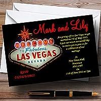 Las Vegas Sign Fabulous Personalizedウェディング招待状 20 Invitations
