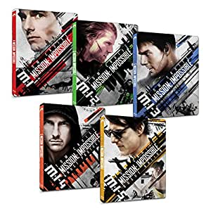 【Amazon.co.jp限定】ミッション:インポッシブル 1~5シリーズセット スチールブック仕様ブルーレイ [Blu-ray]