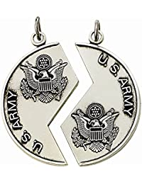 スターリングシルバー2ピースミツパUnited States Army Medalsペンダント設定、1 1 / 8インチ
