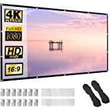 Projector Screen 100 inch 16:9 HD Foldable Anti-Crease Portable Projection Movies Screen for Home Theater Outdoor Indoor Supp