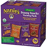 オーガニック スナック バラエティパック 28g×36袋 Annie's Organic Variety Pack, Cheddar Bunnies and Bunny Graham Crackers Snack Packs, 36 Pouches, 1 oz Each [並行輸入品]