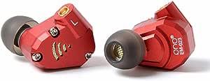 phb EM023 カナル型 イヤホン ダイナミック型ドライバー2基+バランスドアーマチュア型ドライバー2基 MMCX リケーブル アップグレードケーブル ハイブリッド ダブルケーブル搭载3.5mmプラグ 2DD+2BA低音 高遮音性 高音質 HIFI 運動 ヘッドフォン NICEHCK (赤色)