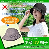 軽量ふんわり小顔UV帽子 グレー・AP-422518