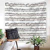 ウォールタペストリー 北欧音楽音楽多機能タペストリー壁掛けビーチタオル新しい年齢寮タペストリーベッドカバーの装飾投げアート 壁の装飾 (色 : C1, サイズ : 150*130CM)
