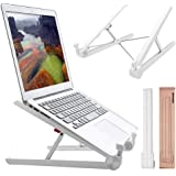 Portable Laptop Stand Adjustable Computer Stand for Notebook (White)