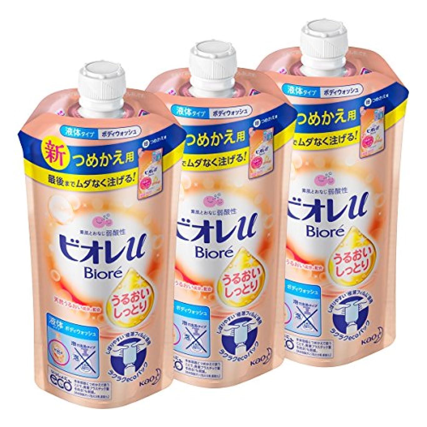 テロパール混合【まとめ買い】ビオレu うるおいしっとり肌 つめかえ用 340ml × 3個