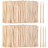 DIAOSnx 1200 Pack Wooden Waxing Sticks Wax Spatulas Sticks Small Wax Applicator Sticks Wood Craft Sticks Spatulas Applicator
