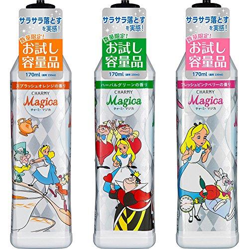 """『チャーミーマジカ 食器用洗剤 フレッシュピンクベリーの香り """"アリス""""限定デザインボトル お試し容量品 170ml』の1枚目の画像"""