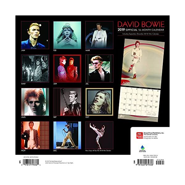 David Bowie 2019 Calendarの紹介画像2