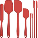 Forc Silicone Spatula Set of 8 include 4 Mini Spatulas, Heat Resistant Rubber Spatula Kitchen Utensils, One Piece Design with