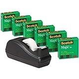 3M スコッチ テープ メンディングテープ 卓上ディスペンサー付 19mm×25.4m 小巻 6巻 810C40BK