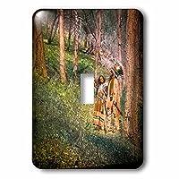 Scenes from the Pastマジックランタンスライド–マジックランタンネイティブAmericans in the Woodsヴィンテージ–照明スイッチカバー–シングルトグルスイッチ( LSP _ 240522_ 1)