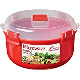 Sistema 1113ZS Microwave 915ml Round Bowl, Red