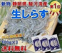 静岡県 駿河湾産 鮮度最高 生 しらす 100g×3 (冷凍)( シラス )