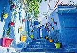 300ピース ジグソーパズル カラフルな街並み 青の街シャウエン-モロッコ(26x38cm)
