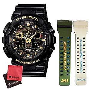 [カシオ]CASIO 腕時計 G-SHOCK Camouflage Dial Series GA-100CF-1A9JF メンズ (バンド名入れサービス)