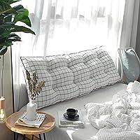 洗浄綿ベッド ヘッド クッション, 枕 ソファソフトバッグ 畳 ダブル ロング枕 ベッド頭 腰-A 150x50cm(59x20inch)