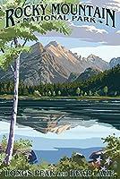 Longsピークand Bear Lake summer-ロッキーマウンテン国立公園 16 x 24 Giclee Print LANT-46097-16x24