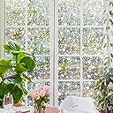 Rabbitgoo 窓 めかくしシート ガラスが石坂になるフィルム 水で貼れる目隠しシート 光によってステンドグラス 貼ってはがせる 外から見えない(石坂 60 x 200cm)