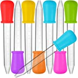 8 Pcs Liquid Droppers, SENHAI Silicone and Plastic Pipettes Transfer Eyedropper with Bulb Tip for Candy Oil Kitchen Kids Gumm