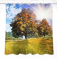 シャワーカーテンポリエステル防水シェルター金型厚いマルチサイズオプションのクリエイティブ3Dデジタル印刷 シャワーカーテン(幅*高さ) (サイズ さいず : 180*180cm)