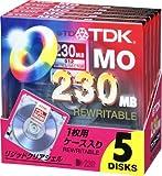 TDK 3.5MO 230MB アンフォーマット5枚パック MO-R230X5A