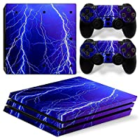 Sony PS4 Playstation 4 Pro Skin Design Foils Faceplate Set - Lightning Design